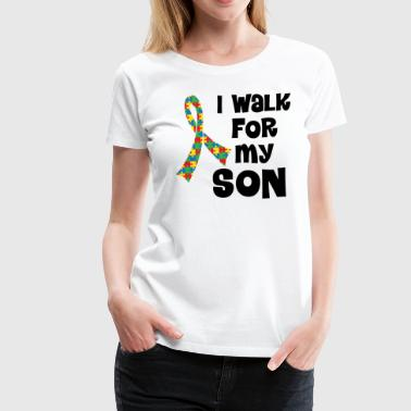 Autism Ribbon Walk For Son - Women's Premium T-Shirt