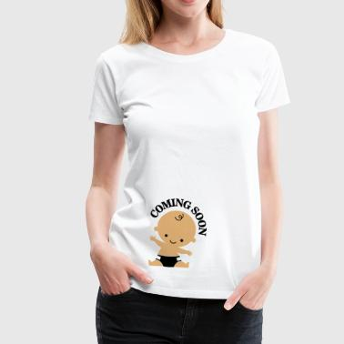 Coming soon - baby - Women's Premium T-Shirt