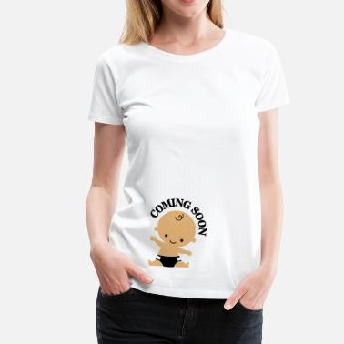 Funny Coming soon - baby - Women's Premium T-Shirt