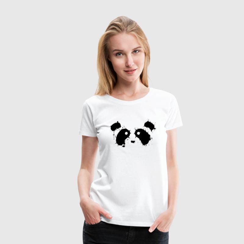 black panda face paint - Women's Premium T-Shirt