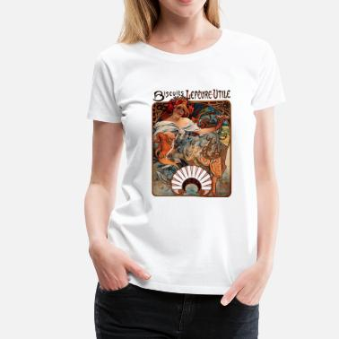 Rolling Papers Smoking Papers alphonse_mucha__bicuits_lefevreutile - Women's Premium T-Shirt