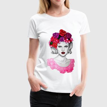 Flower in bloom - Women's Premium T-Shirt