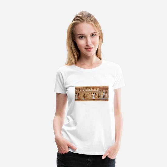 Egypt T-Shirts - Egyptian Book of the Dead - Women's Premium T-Shirt white
