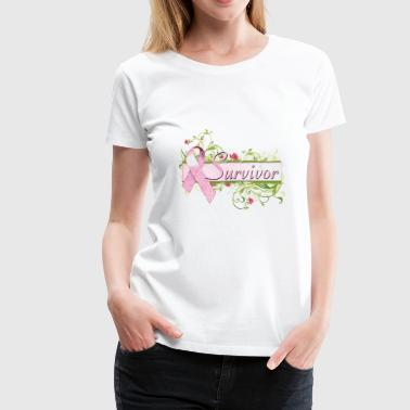 Breast Cancer Survivor Cute Floral - Women's Premium T-Shirt