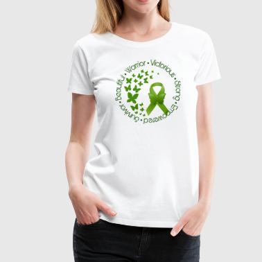 Green Ribbon Butterflies - Women's Premium T-Shirt