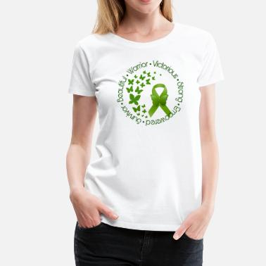 Cerebral Palsy Awareness Green Ribbon Butterflies - Women's Premium T-Shirt