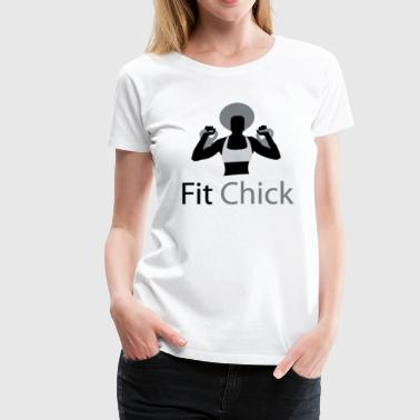 Fit Chick with Afro - Women's Premium T-Shirt