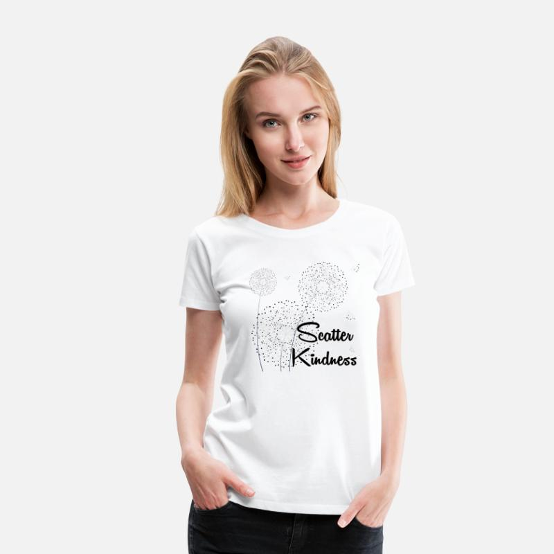 Kindness T-Shirts - Scatter Kindness - Women's Premium T-Shirt white
