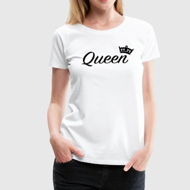 Fonts Queen with crown /Couples - Women's Premium T-Shirt