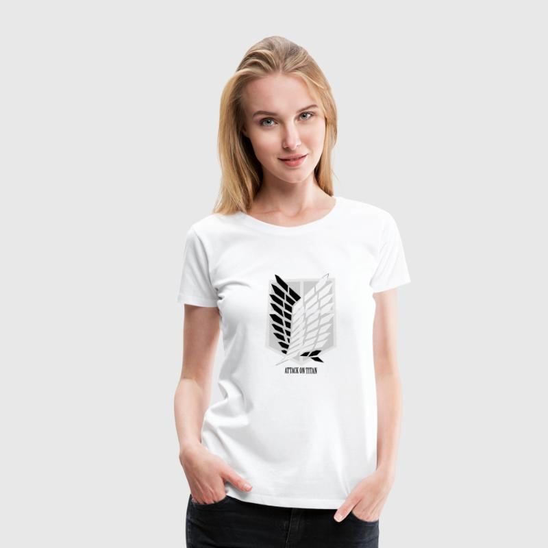 Attack On Titan: Wings of Freedom T-shirt w/ Text - Women's Premium T-Shirt