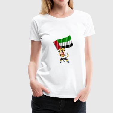 United Arab Emirates fan cat - Women's Premium T-Shirt