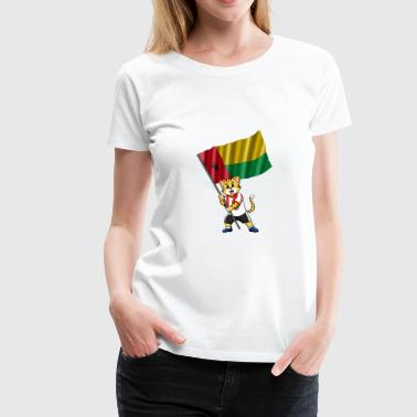 Guinea-Bissau fan cat - Women's Premium T-Shirt