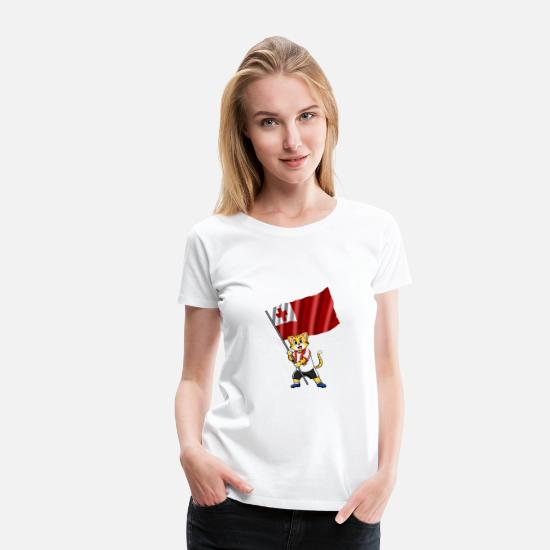 Tonga T-Shirts - Tonga fan cat - Women's Premium T-Shirt white