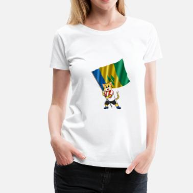 Saint Vincent And The Grenadines Saint Vincent and the Grenadines fan cat - Women's Premium T-Shirt