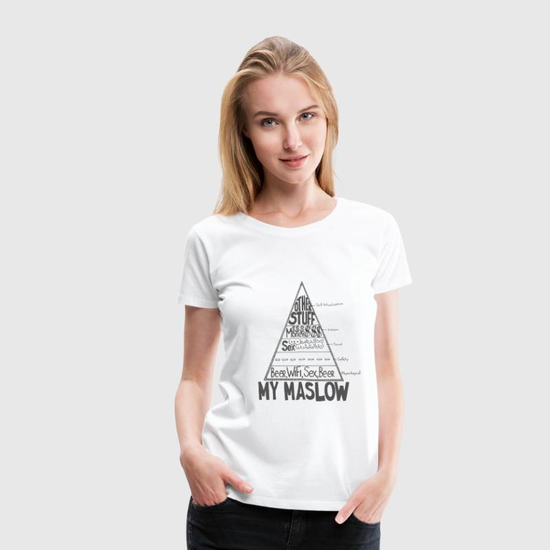 Maslow Pyramid of Needs - Women's Premium T-Shirt