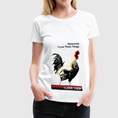 I Love Cock - Women's Premium T-Shirt