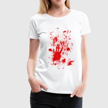 Splash Blood Splatter Splashes of blood / blood Smeared - Women's Premium T-Shirt
