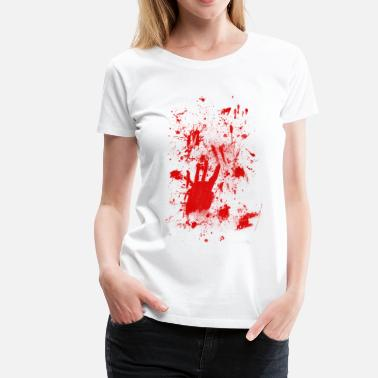 Smear Splashes of blood / blood Smeared - Women's Premium T-Shirt