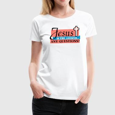 Jesus Christ Son of God Lord  - Women's Premium T-Shirt