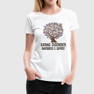 Eating Disorder Awareness Ribbon Tree - Women's Premium T-Shirt