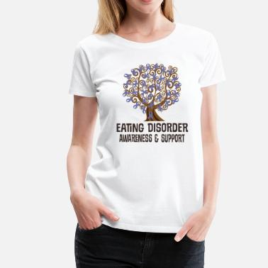 Disorder Eating Disorder Awareness Ribbon Tree - Women's Premium T-Shirt
