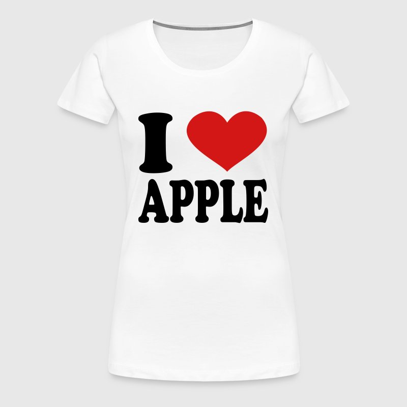 I Love apple - Women's Premium T-Shirt