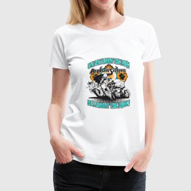 Women riding motorcycles - Women's Premium T-Shirt