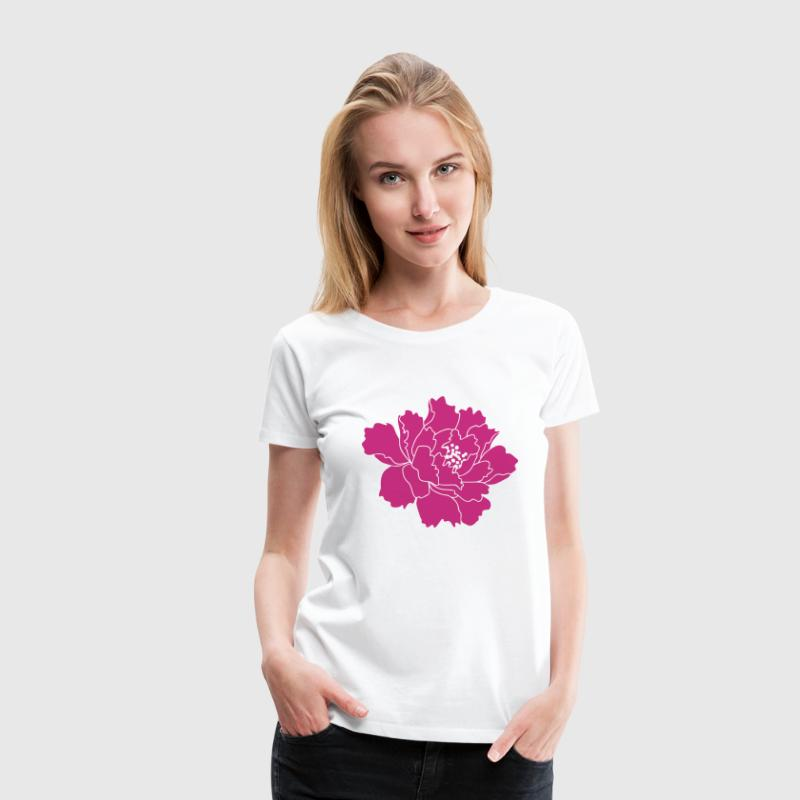 Peony Flower Vector - Women's Premium T-Shirt