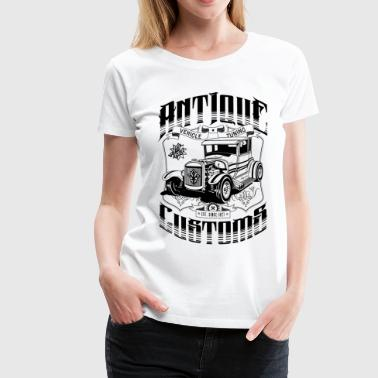 Hot Rod - Antique Customs - Women's Premium T-Shirt