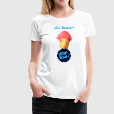 Ice Cream Satire Ice Cream Summer - Women's Premium T-Shirt