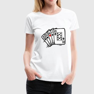 Heart In Queens Queen of Hearts - Women's Premium T-Shirt