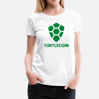 Turtle Coin Turtlecoin Logo TRTL Word - Women's Premium T-Shirt