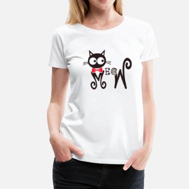 Cat Lover Meowy - Freaking cute t-shirt for cat lovers - Women's Premium T-Shirt