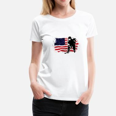 Usa Hockey Icehockey - Hockey - USA Flag - Women's Premium T-Shirt