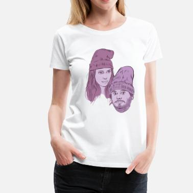Hila and Ethan from h3h3productions - Women's Premium T-Shirt