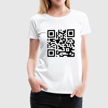 Qr Code Scanner QR Codes are Dumb - Black - Women's Premium T-Shirt