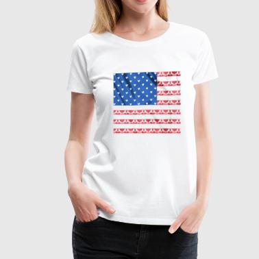 4th of July love your horse us flag - equine style - Women's Premium T-Shirt