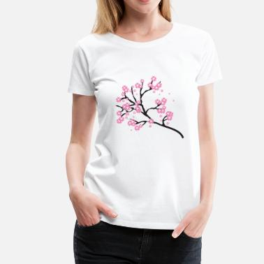 Japanese Cherry Blossom Cherry Blossom Blossoms Tree Japanese Gift Present - Women's Premium T-Shirt