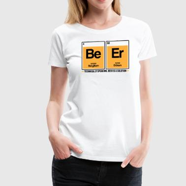 Beer is a solution - Women's Premium T-Shirt
