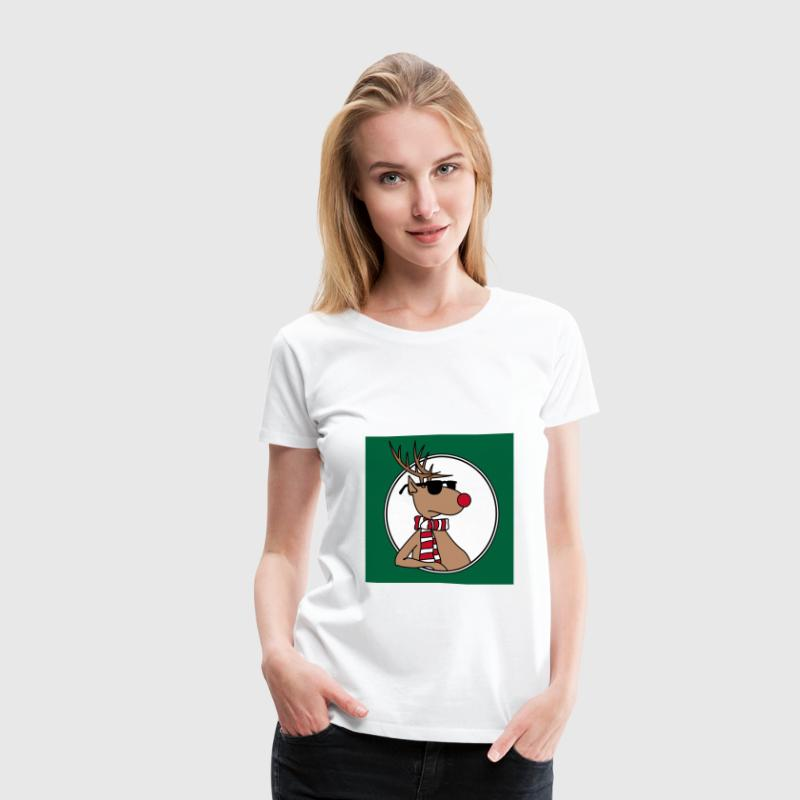 Cool Reindeer - Women's Premium T-Shirt