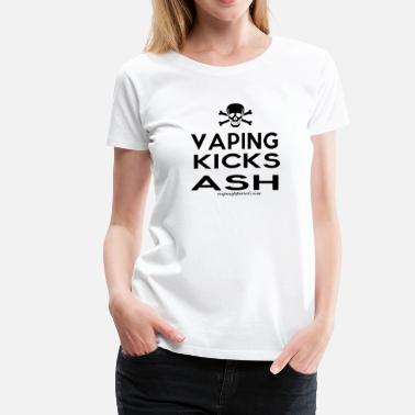 Vape Community Vaping Kicks Ash - Women's Premium T-Shirt