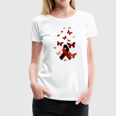 Red Awareness Ribbon - Women's Premium T-Shirt