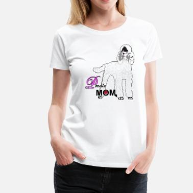 Custom Dog Breed Poodle Dog Mom, Custom Poodle Mom T-shirt - Women's Premium T-Shirt