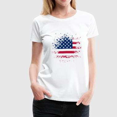 Vintage US Flag - Women's Premium T-Shirt