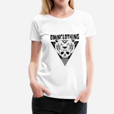 One Weird Nation Clothing Est Mmxii TIGER & SKULL - Women's Premium T-Shirt