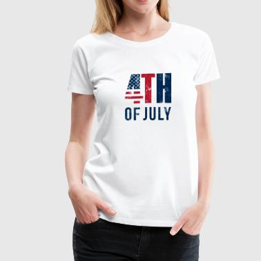 4th of July, Independence Day, No.4 - Women's Premium T-Shirt