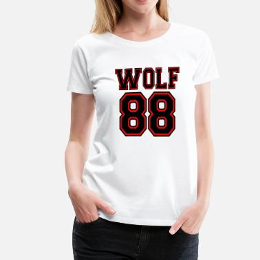 Growling Wolf ۞»♥♫Growling Wolf 88-I Love K-Pop EXO♪♥«۞ - Women's Premium T-Shirt