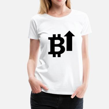 Bitcoin Logo Symbol Cryptocurrency Crypto Coin - Women's Premium T-Shirt