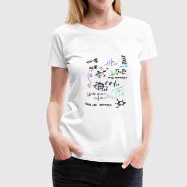 Math Complex Mathematical blackboard with formula - Women's Premium T-Shirt