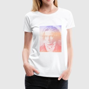Beethoven Portrait With Gradient Effect - Women's Premium T-Shirt